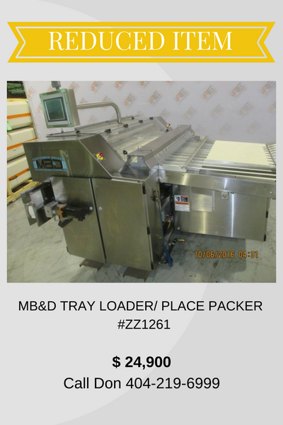 MB&D TRAY LOADERPLACE PACKER (3)