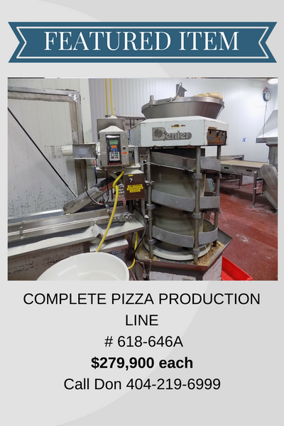 COMPLETE PIZZA PRODUCTION LINE - INV# 618-646A